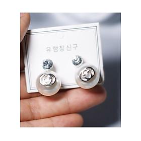 Hình đại diện sản phẩm Bông tai Hàn Quốc - Hoa tai đẹp sang chảnh - Khuyên tai đi dự tiệc, đám cưới, sinh nhật xinh xắn - Mẫu 33