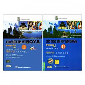 Combo 2 Cuốn Giáo Trình Hán Ngữ Boya Trung Cấp 1 ( Tập 1 + Tập 2 ) tặng kèm bookmark