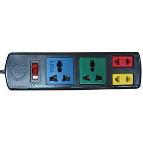 Ổ cắm điện 4 lỗ đa năng (2 lỗ 2, 2 lỗ 3)  Lioa 2D2S32