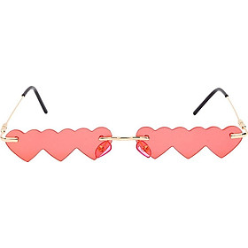 Unique Overlapped Love Hearts Lens Sunglasses Shades UV400 Summer Sun Eyewear