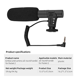 Camera Microphone Multifunctional All-round Camera Microphone For Dji Pocket 2