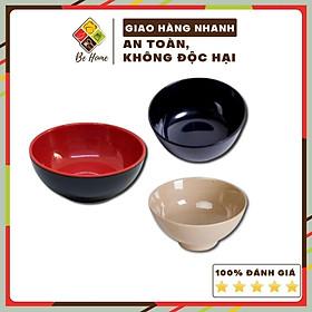 Tô nhựa ăn cơm Melamine  -BEHOME- 3 Màu - Chịu nhiệt độ cao - Bát ăn cơm cao cấp Hàn Quốc