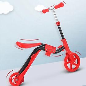 Xe Trượt Scooter 2 trong 1 cho bé - Có thể chuyển đổi sang xe thăng bằng, xe chòi chân
