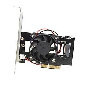 Adapter Chuyển Đổi SSD M2 NVMe To PCIe 3.0 x4 ( Có Quạt Tản Nhiệt )