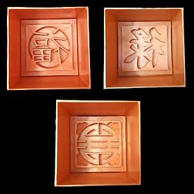 Bộ 3 khuôn xôi hình vuông Phúc Lộc Thọ