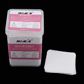 200pcs/box Professional Eyelash Glue Makeup Remover Cotton Pads Wipes Lint-Free Makeup Beauty Tools