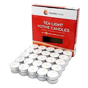 50 viên nến tealight không mùi dày 1.3cm cháy từ 3h-4h | Bio Aroma