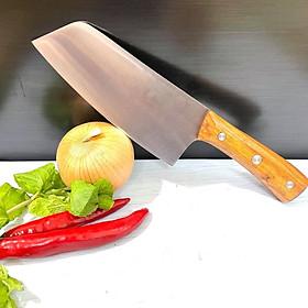 Dao Thái thịt cá SK5 CÁN GỖ Cao Cấp SIÊU ĐẸP. Dao làm từ THÉP SK5 SIÊU BÉN, dày dặn, cán GỖ TỰ NHIÊN cằm nắm chắc chắn, nặng tay. Dụng cụ nhà bếp chuyên phục vụ Nhà Hàng Chuyên Nghiệp ĐẴNG CẤP