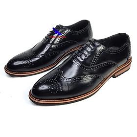 Giày tây nam da bò đế khâu Giày buộc dây công sở kiểu Ý Giày Oxford Captoe doanh nhân kinh doanh sang trọng lịch lãm B-1