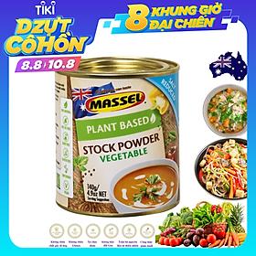 Hạt Nêm Cho Bé -Massel Stock Powder Vegetable Của Úc 100% Từ Rau Củ Vị Rau Củ - Nấu Được Món Chay, Món Mặn Cho Cả Gia Đình Và Dùng Nấu Ăn Dặm Cho Bé Rất Tốt – Lon 168g