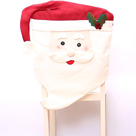 Decorative Santa Claus Snowman Husband Wife Chair Cover Case for Christmas Xmas