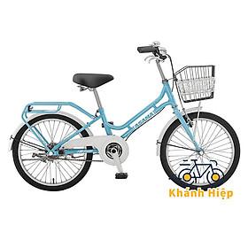 Xe đạp Asama PU20 - Xe đạp trẻ em cho bé gái 7 8 tuổi màu xanh