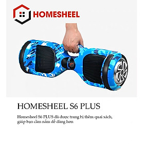 Xe Điện Cân Bằng Homesheel S6 Plus xanh da trời
