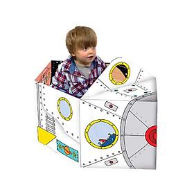 Combo 2 Cuốn Sách biến hóa mô hình: Race car - Xe đua + Spaceship - Tàu vũ trụ