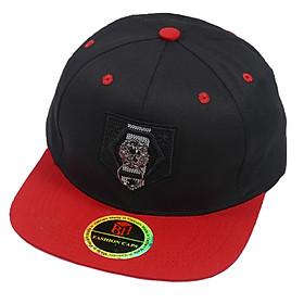 Mũ Snapback Hiphop mỏ bằng phối 2 màu Đỏ & Đen, gắn móc treo thời trang, phong cách năng động, cá tính - Hạnh Dương