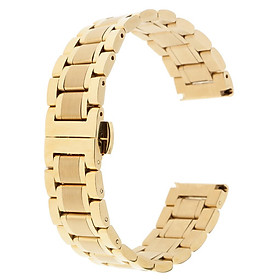 Premium Solid Stainless Steel Business Replacement Bracelet Strap for Men's Women's Watch 18-22mm