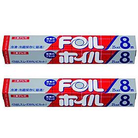 Bộ 2 màng nhôm nướng đồ ăn (25x8cm) - Hàng nội địa Nhật