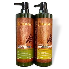 Bộ dầu gội xả phục hồi siêu mượt tóc Masaroni Rich Biotin Collagen repair Shampoo & Conditioner 800ml-0