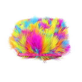 1 Meters Turkey Feather Fringe Trim for DIY Craft Clothing Millinery 7-9cm