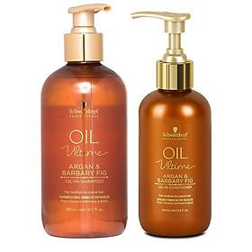 Bộ dầu gội xả Schwarzkopf OIL Ultime Argan & Barbary Fig Oil chăm sóc tóc to sợi thô cứng 300ml-1