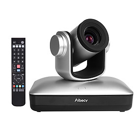 Aibecy Full HD 1080P Video Conference Cam 12X Optical Zoom Auto Focus USB2.0 PTZ Camera with Remote Control for Business