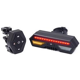 Đèn đuôi xe đạp không dây thông minh điều khiển từ xa với cổng sạc USB tiện dụng