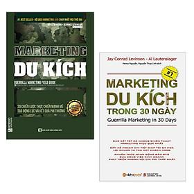Combo 2 Cuốn Sách Marketing Cực Hay: Marketing Du Kích - 30 Chiến Lược Thực Chiến Mạnh Mẽ Tạo Động Lực Và Kết Quả Phi Thường + Marketing Du Kích Trong 30 Ngày (Tái Bản 2018) / Sách Marketing Bán Hàng - Sách Kỹ Năng Làm Việc (Tặng Bookmark Happy Life)