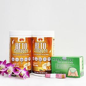 Liệu trình 2 hộp Keto Collagen 500g [Chính Hãng] - Bữa ăn Keto hỗ trợ GIẢM CÂN SIÊU TIỆN LỢI cho người thực hành Keto và người muốn giảm cân - Giảm 3-7Kg/ 1 tháng [Tặng 1 hộp Chất xơ hòa tan Hera Happy chống táo bón và 1 Thước dây]