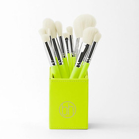 Bộ 12 Cọ BH Cosmetics Color Festival 12 Piece Brush Set With Angled Brush Holder