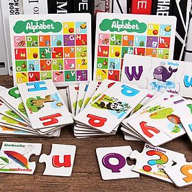 Đồ chơi bảng chữ cái in hoa và in thường kết hợp học Tiếng anh hữu ích cho bé