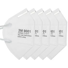 Combo 5 khẩu trang 3M 9001 kháng khuẩn , chống bụi siêu mịn PM2.5 , tặng móc treo khóa