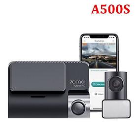 Camera hành trình ô tô, xe hơi nhãn hiệu Xiaomi 70mai cao cấp A500S độ phân giải FullHD 1080p (Bộ gồm Camera trước + sau) - Bản Quốc Tế - Hàng Nhập Khẩu