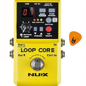 Phơ Guitar tạo vòng lặp Nux Loop Core Effect Pedal Kèm Pick (Bàn đạp Looper Fuzz - Thời gian ghi âm 6h)