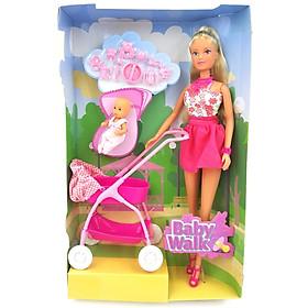 Đồ Chơi Trẻ Em Búp Bê Dắt Bé Đi Dạo, Steffi Love Baby Walk 105733067