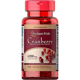 Puritans Pride Cranberry Fruit Concentrate with C & E 4200 Mg, 100 Count