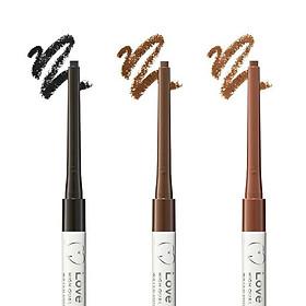 Bút Chì Kẻ Viền Mắt Nhật Bản Love Liner Pencil Eyeliner Medium Brown Màu Nâu Bột Mịn, Chống Mồ Hôi, Kiềm Dầu