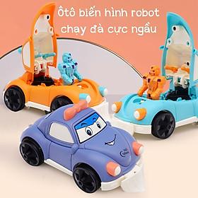 Đồ chơi ô tô biến hình robot chạy đà, màu sắc bắt mắt , chất liệu an toàn dành cho bé