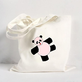 Túi Vải Đeo Vai Tote Bag In Hình Baby Panda