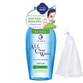 Nước tẩy trang sạch thoáng Senka A.L.L.Clear Water Fresh 230ml Tặng Lưới Tạo Bọt