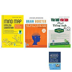 Combo bộ sách tiếng anh dành cho người mất gốc(Mindmap English Grammar - Ngữ Pháp Tiếng Anh Bằng Sơ Đồ Tư Duy+Vừa Lười Vừa Bận Vẫn Giỏi Tiếng Anh+Brain Booster - Nghe Phản Xạ Tiếng Anh Bằng Công Nghệ Sóng Não+Ứng Dụng Siêu Trí Nhớ 4000 Từ Vựng Tiếng Anh Thông Dụng Nhất)