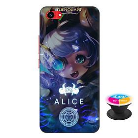 Ốp lưng nhựa dẻo dành cho Vivo Y83 in hình Alice - Tặng Popsocket in logo iCase - Hàng Chính Hãng