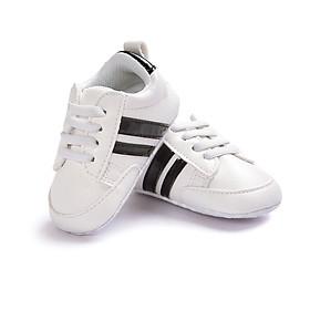 Giày Thể Thao Tập Đi Đế Mềm Chống Trượt Da Pu Cho Bé