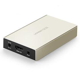 Bộ nhận HDMI qua cáp Lan Cat 5E + 6 120M Màu Vàng  Ugreen 116OL40283MM Hàng chính hãng