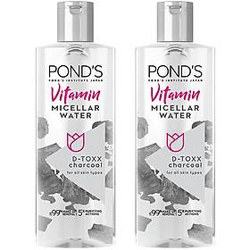Combo 2 Nước Tẩy Trang Vitamin & Tinh Than Tre Sạch Sâu Pond'S Micellar Water 100ml