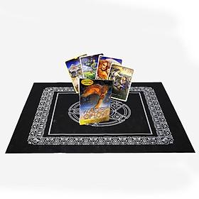 Combo Bộ Bài Bói Tarot Whispers of Love Oracle Cards New Cao Cấp và Khăn Trải Bàn Tarot