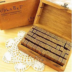 Bộ con dấu gỗ Chữ cái Alphabet