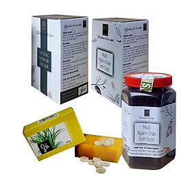 Combo 02 Muối ngâm chân Sinh Dược (550g/hộp) và Tặng kèm 01 Xà bông thảo dược Sả Chanh