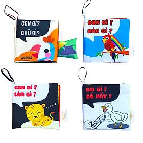 Bộ Sách vải kích thích thị giác- dành cho trẻ sơ sinh ( quyển 3+4+5+6 ) (PiPô Việt Nam)