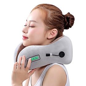 Gối ngủ massage chữ U tạo nhiệt hỗ trợ trị đau mỏi cổ pin sạc YIJIA YJ-818 - Màu ngẫu nhiên. Phù hợp đi tàu, xe, máy bay, văn phòng