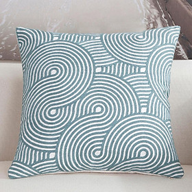 Fashion Simple Blue Throw Pillow Cover for Office Sofa Chair Car Use